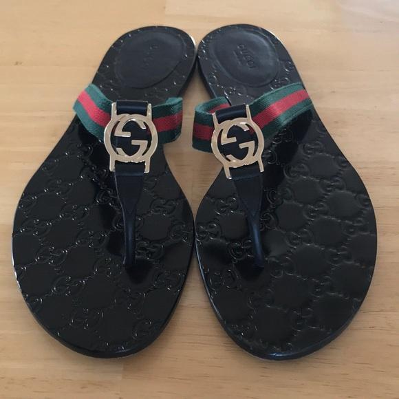 55560aeff Gucci Shoes - Gucci GG thong sandals 💚❤️